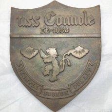 Militaria: PLACA METOPA DE BRONCE DEL USS CONNOLE - MEDIDA 19 X 16 CM. - PESO 1 KG.. Lote 136418326