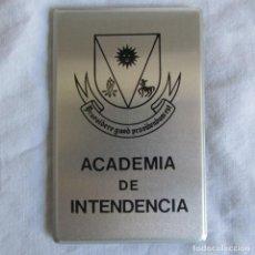 Militaria: CALENDARIO METÁLICO AGENDA ACADEMIA DE INTENDENCIA 1984. Lote 137332678