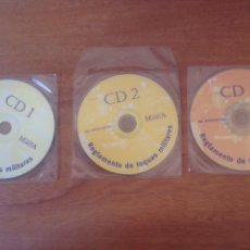 Militaria: LOTE DE CD1,2,3 - REGLAMENTO DE TOQUES MILITARES. Lote 137509406
