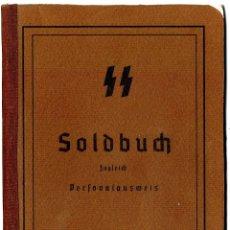 Militaria: SOLDBUCH WAFFEN-SS COPIA DE ORIGINAL.. Lote 137573754