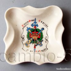 Militaria: CENICERO CERÁMICA DEL TERCIO DEL GRAN CAPITÁN 1º DE LA LEGIÓN - FECHADO 23 3 90 -. Lote 137930590
