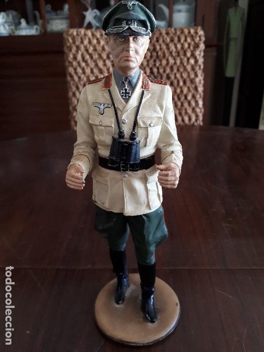 Militaria: Soldado de Plomo Mariscal Rommel. 2ª Guerra Mundial. 23 cms. Firmado por De Prado. Febrero 95 - Foto 2 - 115389987