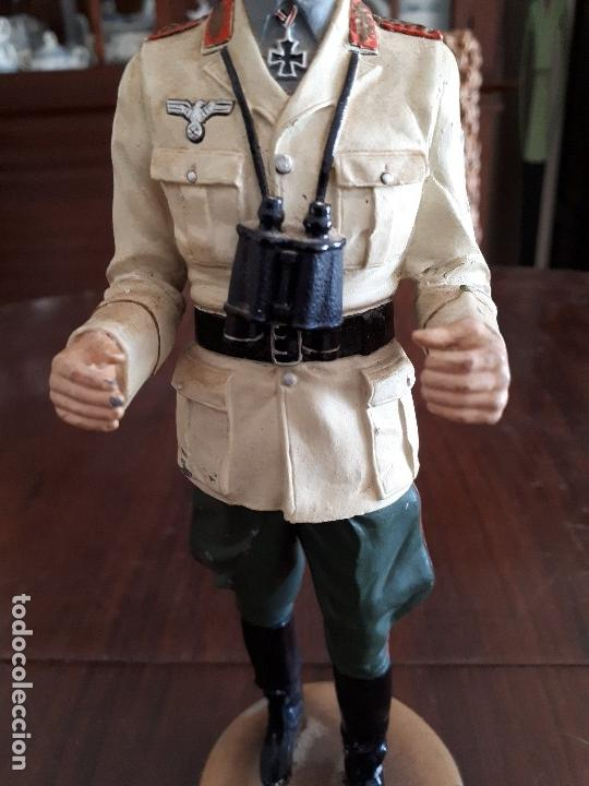 Militaria: Soldado de Plomo Mariscal Rommel. 2ª Guerra Mundial. 23 cms. Firmado por De Prado. Febrero 95 - Foto 3 - 115389987
