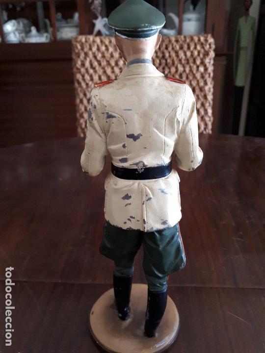 Militaria: Soldado de Plomo Mariscal Rommel. 2ª Guerra Mundial. 23 cms. Firmado por De Prado. Febrero 95 - Foto 4 - 115389987