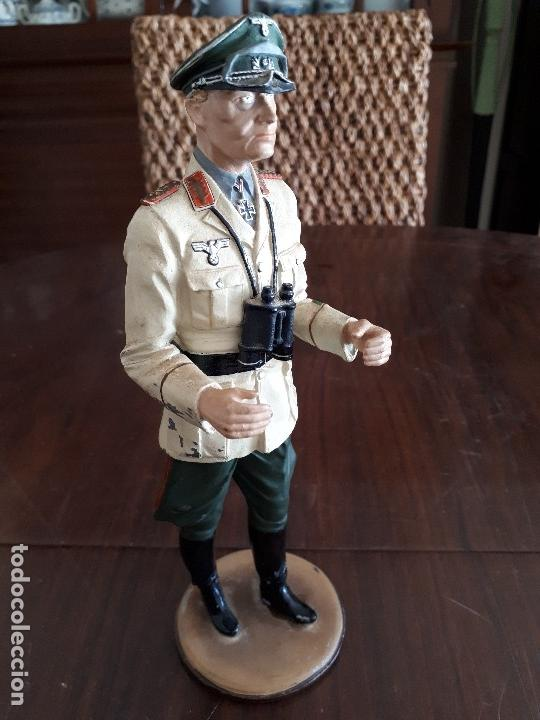 Militaria: Soldado de Plomo Mariscal Rommel. 2ª Guerra Mundial. 23 cms. Firmado por De Prado. Febrero 95 - Foto 6 - 115389987