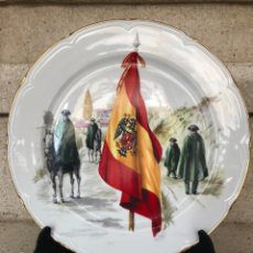 Militaria: GUARDIA CIVIL-ANTIGUO PLATO DE GRES PORCELANICO.. Lote 139512528