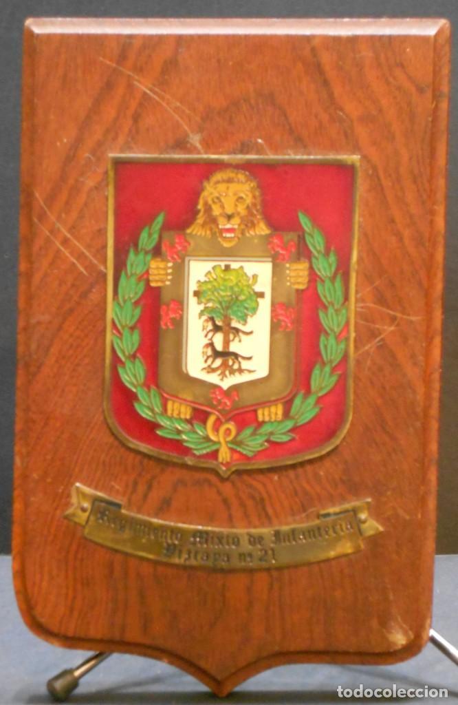 METOPA DEL REGIMIENTO MIXTO DE INFANTERÍA VIZCAYA Nº 21 (Militar - Reproducciones, Réplicas y Objetos Decorativos)