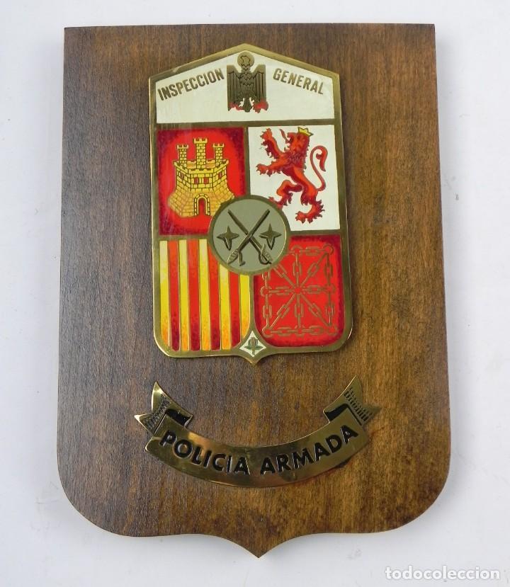 METOPA INSPECCION GENERAL. POLICIA ARMADA. MIDE 24 X 17,5 CMS. (Militar - Reproducciones, Réplicas y Objetos Decorativos)