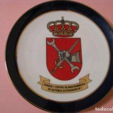 Militaria: PLATO DE PARQUE Y CENTRO DE MANTENIMIENTO DE SISTEMAS ACORAZADOS Nº1. CERÁMICA SAN ANTON, CARTAGENA.. Lote 141486070