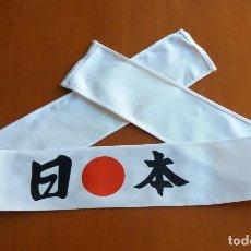 Militaria: CINTA CABEZA JAPONESA ESTILO KAMIKAZE CON SOL NACIENTE Y LOS KANJIS: NI - HON ( JAPÓN). 92 CM.. Lote 142820138