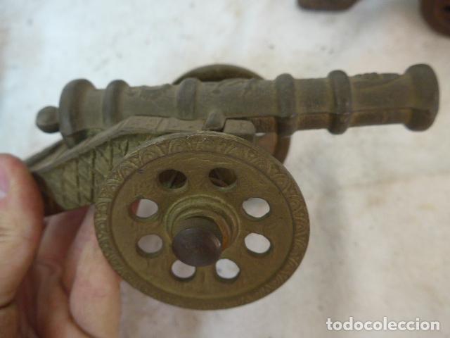 Militaria: RESERVADO cañon en pequeño, en bronce y madera. - Foto 3 - 142888902