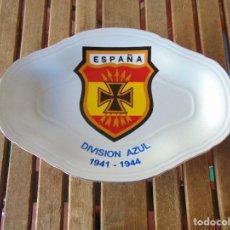 Militaria: FUENTE BANDEJA PLATO EN CERAMICA ESPAÑA DIVISION AZUL 1941 1944 2ª GUERRA MUNDIAL. Lote 143287198