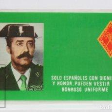 Militaria: CARNET / TARJETA PLASTIFICADA - ANTONIO TEJERO MOLINA - GUARDIA CIVIL / GOLPE DE ESTADO. Lote 143984586
