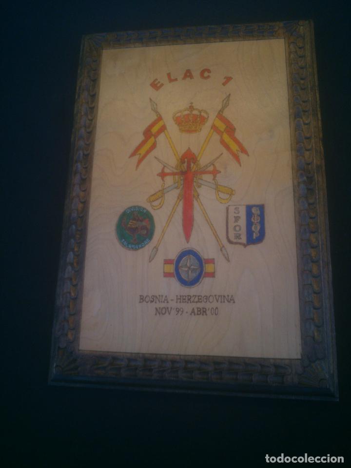 METOPA MILITAR. EJÉRCITO ESPAÑOL EN BOSNIA HERZEGOVINA. DIVISION SALAMANDRE. SFOR. (Militar - Reproducciones, Réplicas y Objetos Decorativos)