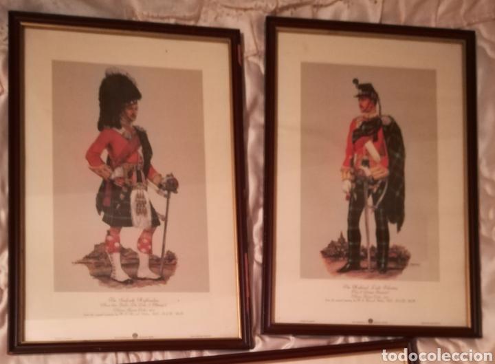 Militaria: Cuadros de historia militar,soldados del regimiento de infantería británico, 1914 y otro historia de - Foto 2 - 145763449