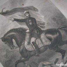 Militaria: RETRATO FIRMADO Y DEDICADO POR EL GENERAL PRIM. BATALLA DE LOS CASTILLEJOS. GUERRA DE AFRICA.. Lote 146982374