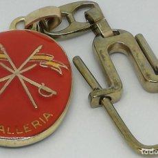 Militaria: LLAVERO EJÉRCITO ESPAÑOL. CABALLERÍA. DIOS PATRIA HONOR SACRIFICIO. ESPAÑA. Lote 147487114
