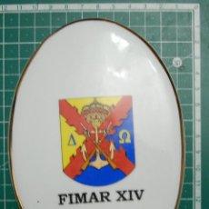 Militaria: ARMADA ESPAÑOLA. INFANTERIA DE MARINA. PLACA CERAMICA DE METOPA DEL DESTAMENTO FIMAR XIV. BOSNIA. Lote 147655886