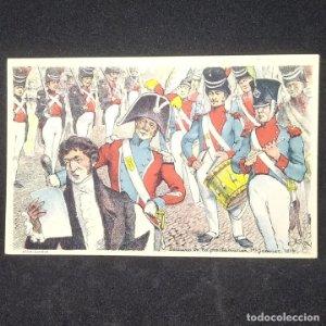 Postal Lectura de la proclamación 1 enero de 1814 Francia