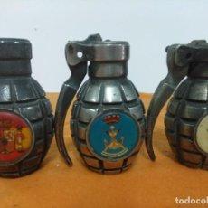 Militaria: GRANADAS DE MANO PIÑA ESTILO MK II AMERICANA SEGUNDA GUERRA MUNDIAL PARA MECHERO CLIPPER. Lote 148211310