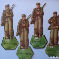 Militaria: EJERCITO POPULAR TRES SOLDADOS Y UN CORNETA ORIGINAL GUERRA CIVIL. Lote 149468266