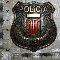 Militaria: RÉPLICA PARA COLECCIONISMO PLACA MOSSOS DE ESQUADRA DE CATALUÑA. Lote 152056421