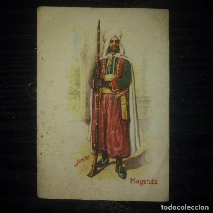 Militaria: Lámina uniforme militar. Magenta. Sanchís. 14 x 9,5 cm. - Foto 2 - 147829166