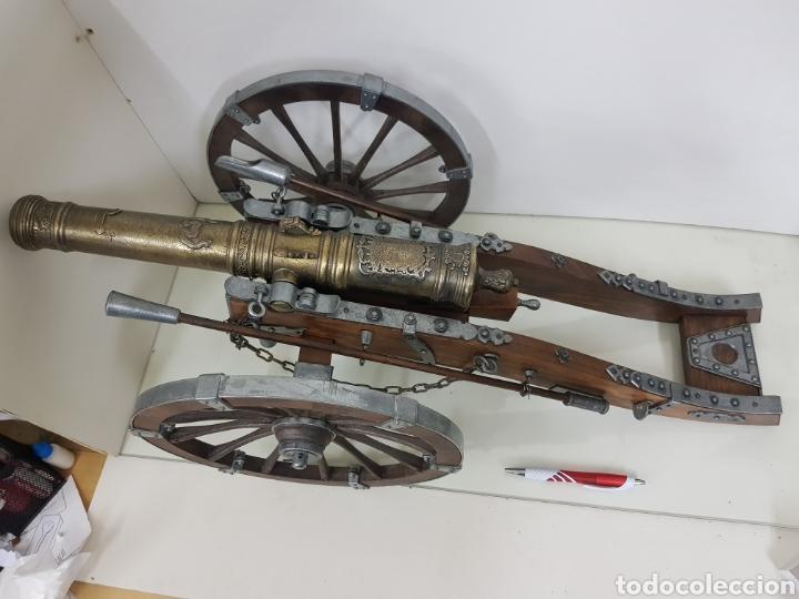 Militaria: gran cañon en miniatura bronce y madera - Foto 2 - 151092268
