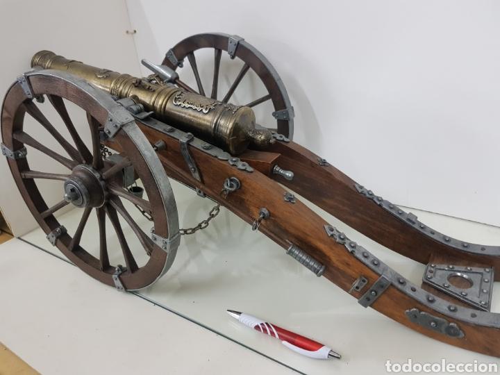 Militaria: gran cañon en miniatura bronce y madera - Foto 6 - 151092268