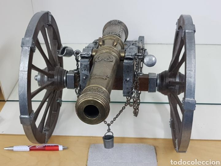 Militaria: gran cañon en miniatura bronce y madera - Foto 8 - 151092268