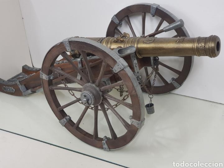 Militaria: gran cañon en miniatura bronce y madera - Foto 9 - 151092268