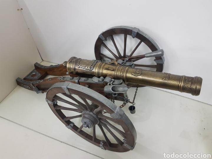 Militaria: gran cañon en miniatura bronce y madera - Foto 10 - 151092268