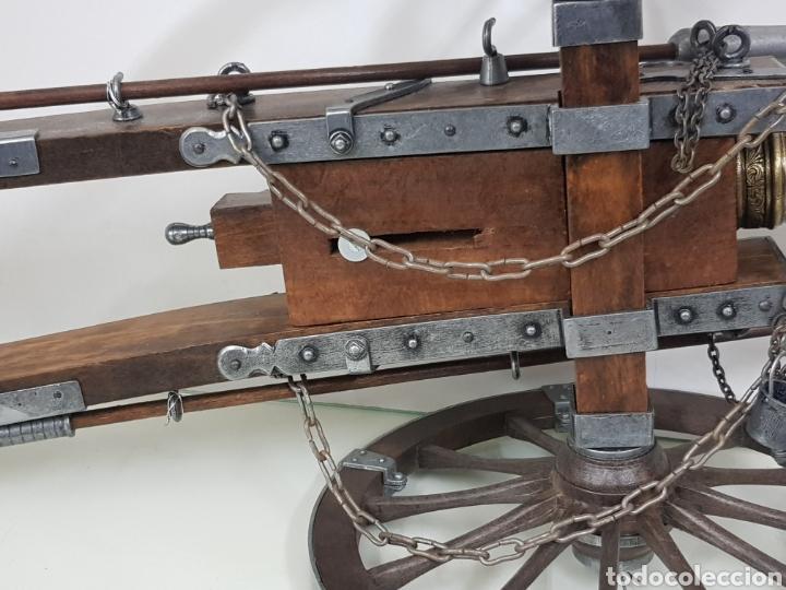 Militaria: gran cañon en miniatura bronce y madera - Foto 12 - 151092268