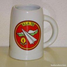 Militaria: JARRA MILITAR DE CERÁMICA. EJÉRCITO DEL AIRE. ALA 78 GRANADA. 13 CM. 560 GR. Lote 151978078