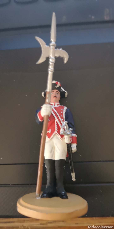 Militaria: Soldado de plomo representando Alabardero de la guardia real pintado a mano - Foto 2 - 152894060