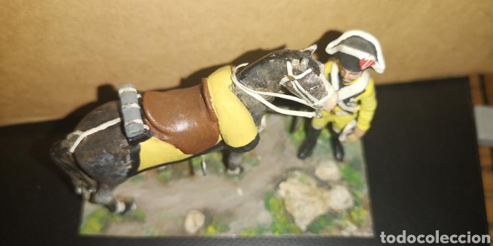 Militaria: Soldado de plomo a caballo, dragones de Lusitana, pintado a mano 1805 - Foto 2 - 153056849