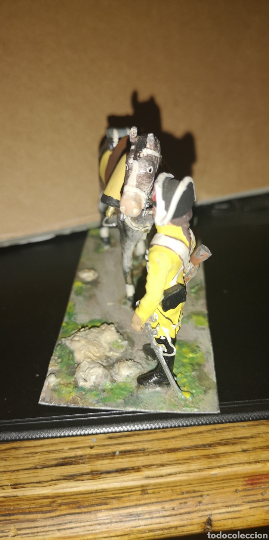 Militaria: Soldado de plomo a caballo, dragones de Lusitana, pintado a mano 1805 - Foto 3 - 153056849