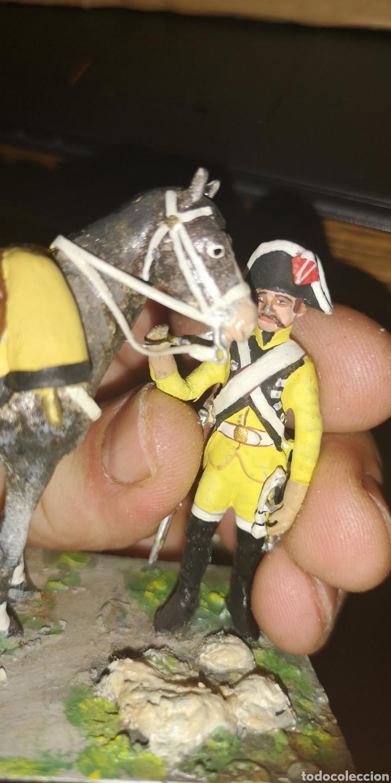 Militaria: Soldado de plomo a caballo, dragones de Lusitana, pintado a mano 1805 - Foto 5 - 153056849