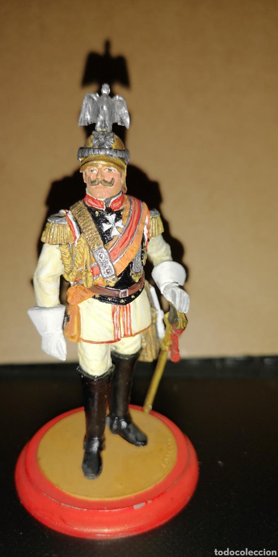 SOLDADO DE PLOMO PINTADO A MANO REPRESENTANDO AL KAISER MARCA TRADITIÓN MEDIDA 10,5 CM (Militar - Reproducciones, Réplicas y Objetos Decorativos)