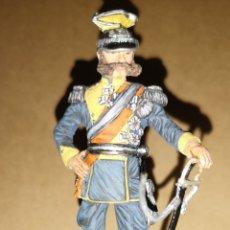Militaria: ANTIGUO SOLDADO DE PLOMO REPRESENTANDO AL KAISER MARCA, ALTURA 10 CM PINTADO A MANO. Lote 153077470