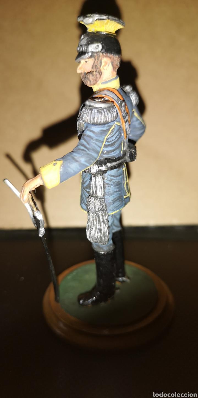 Militaria: Antiguo soldado de plomo representando al Kaiser marca, altura 10 cm pintado a mano - Foto 2 - 153077470