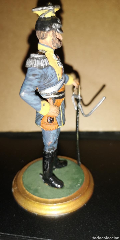 Militaria: Antiguo soldado de plomo representando al Kaiser marca, altura 10 cm pintado a mano - Foto 4 - 153077470