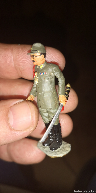 Militaria: Soldado de plomo pintado a mano representando a oficial japonés Segunda Guerra Mundial - Foto 2 - 153098541