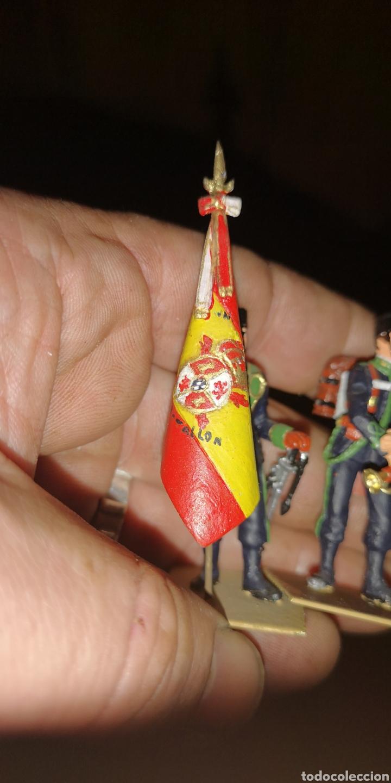 Militaria: Conjunto de 3 soldados de plomo, pintados a mano artesanalmente de cazadores de montaña - Foto 2 - 153691950