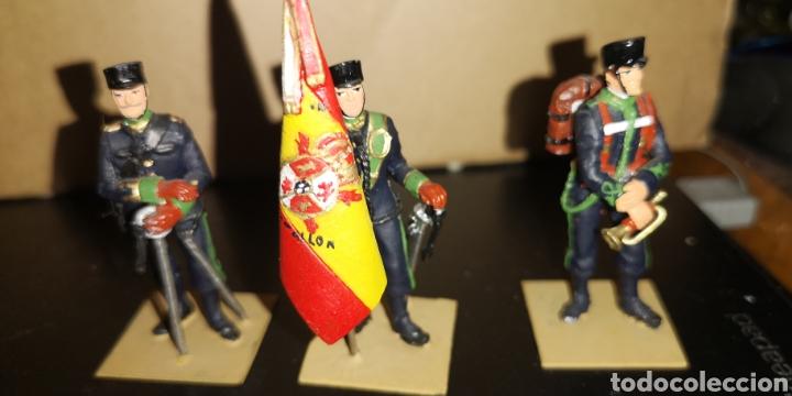 Militaria: Conjunto de 3 soldados de plomo, pintados a mano artesanalmente de cazadores de montaña - Foto 5 - 153691950
