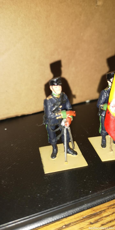 Militaria: Conjunto de 3 soldados de plomo, pintados a mano artesanalmente de cazadores de montaña - Foto 6 - 153691950