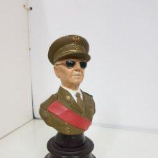 Militaria: BUSTO DEL GENERAL FRANCISCO FRANCO 20 CM EN ESCAYOLA. Lote 154660162