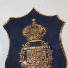 Militaria: ESCUDO ESPAÑOL DE LA MARINA EN BRONCE. Lote 155685470