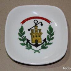 Militaria: CENICERO O PLATO DE CERAMICA BUQUE DE LA ARMADA: BUQUE DE TRANSPORTE L - 21 CASTILLA - 12,5 CM. Lote 156286294