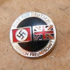 Militaria: INSIGNIA DE LA ALIANZA GERMANO-BRITÁNICA. 3 REICH . NAZI. Lote 171773543